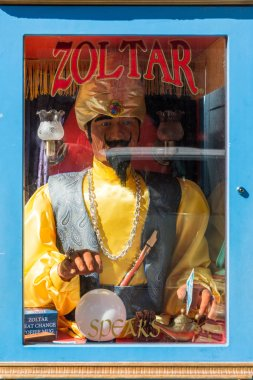 Machine to guess the future Zoltar on a street in San Francisco, California, USA