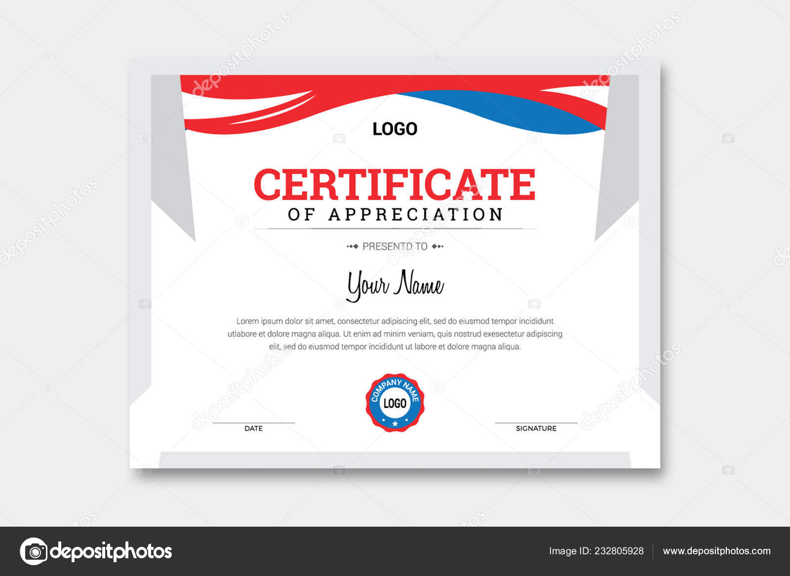 Certificate Template Template Download Contains 300 Dpi