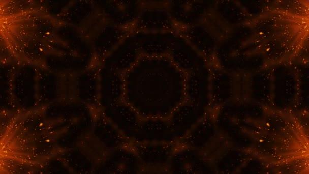 4 k oranžové abstraktní hypnotické relaxační Techno mozaika kaleidoskop pozadí záběrů oranžová