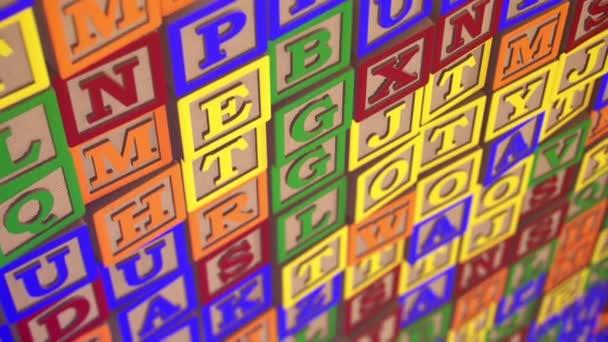 alphabet blocks for children