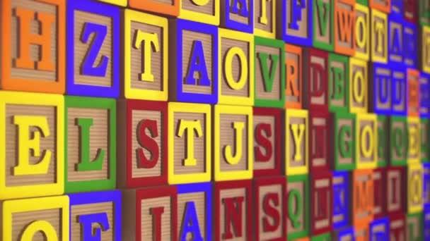 childrens alphabet blocks background