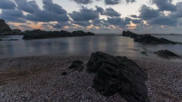 beautiful sea sunrise timelapse