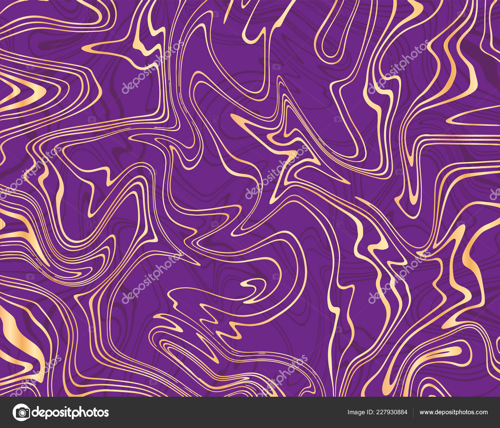 Vector De Fondo Abstracto Mármol Violeta Y Oro Líquidos