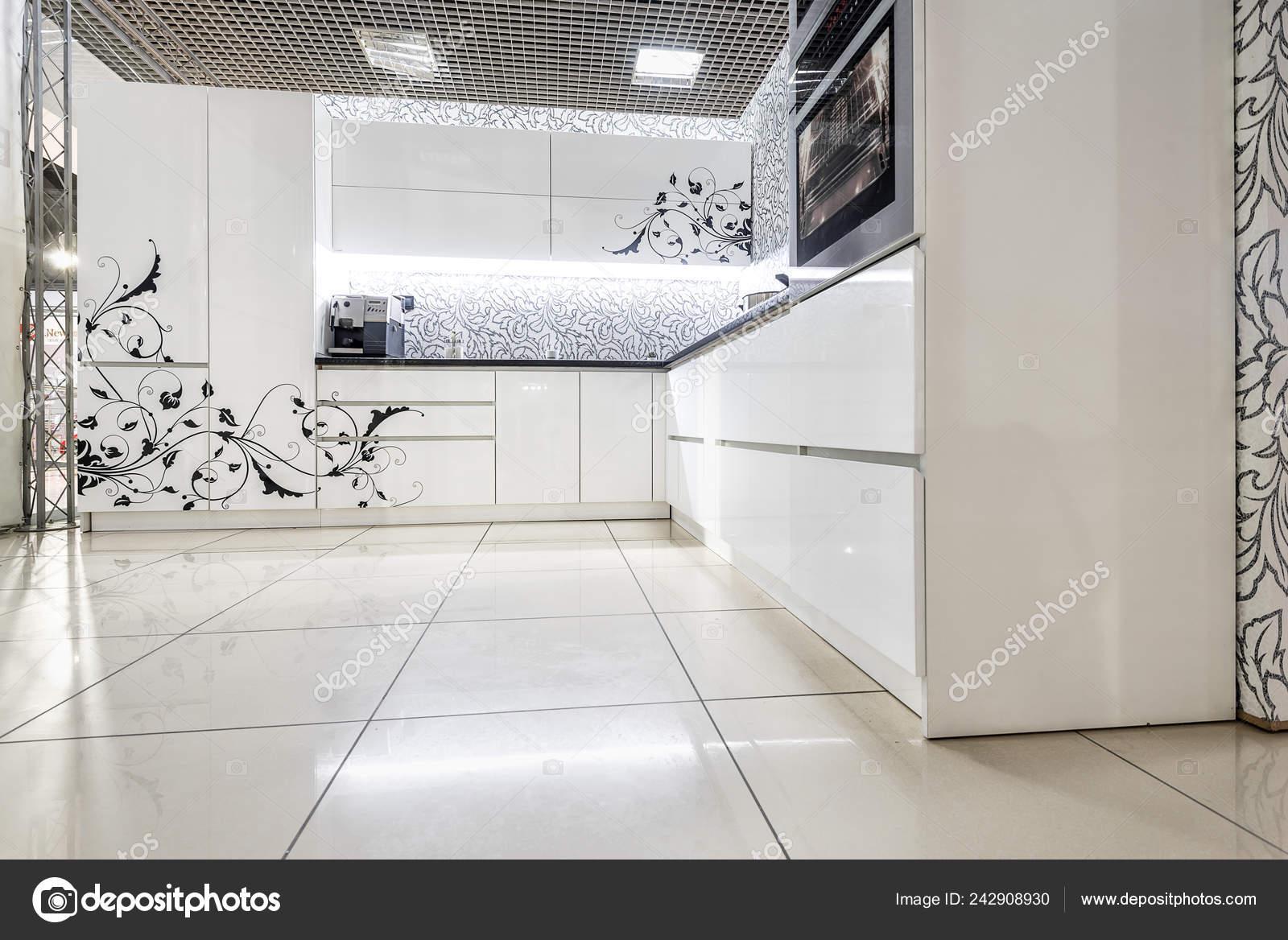 Muebles Cocina Blancos Superficie Delantera Pintada Material ...