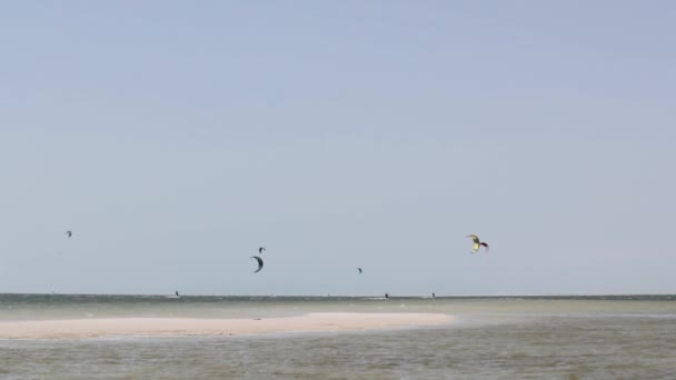 Kitesurfing Panorama in Dakhla, South Sahara, Morocco