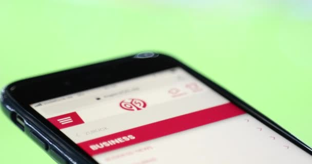 Obrazovka webového serveru mobilního prohlížeče
