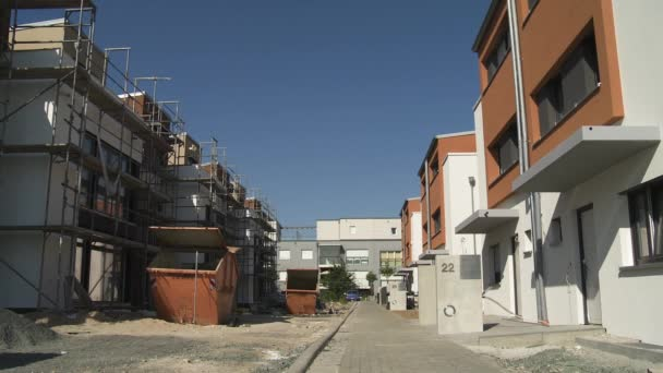 Suburban Community in Construction Phase with Newly Built Townhouses
