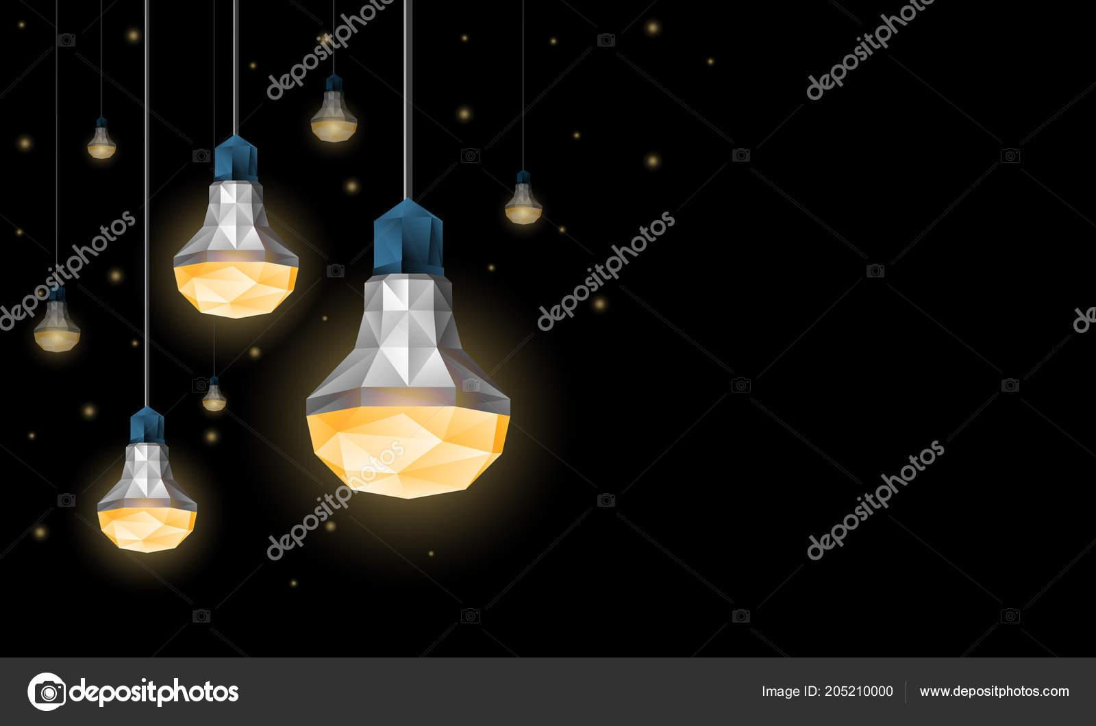 Poligonale led lampadine appese al soffitto decorazione di