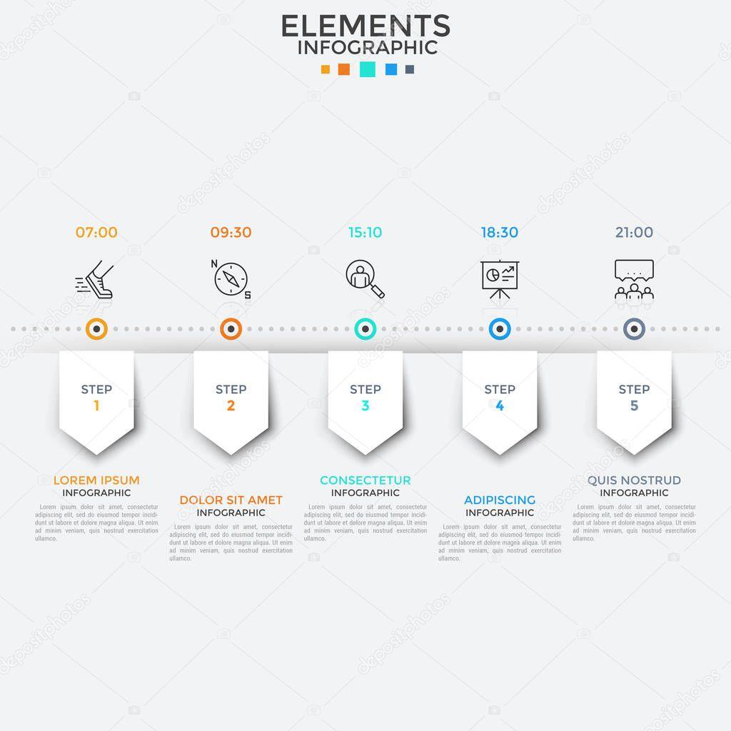 Horizontal Timeline Template from st4.depositphotos.com