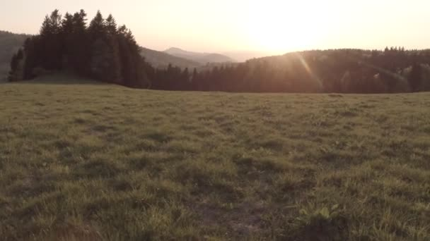 View  at sunrise from Ostre Skalky, Slovakia.