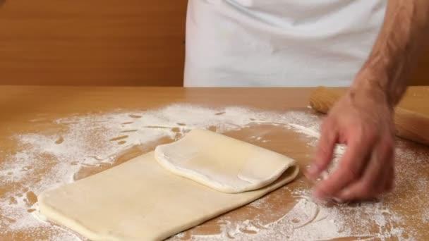 Man Making Puff Pastry Series.