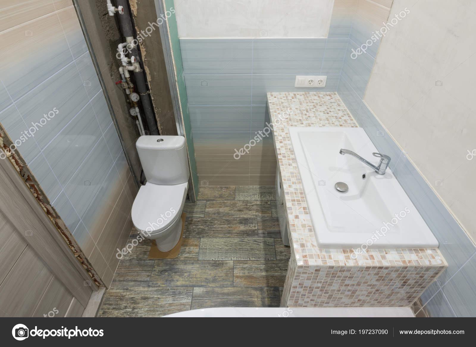 Repair Bathroom Top View Toilet Washbasin Stock Photo C Madhourses