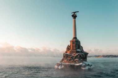 Monument to the scuttled ships. Sevastopol, Ukraine
