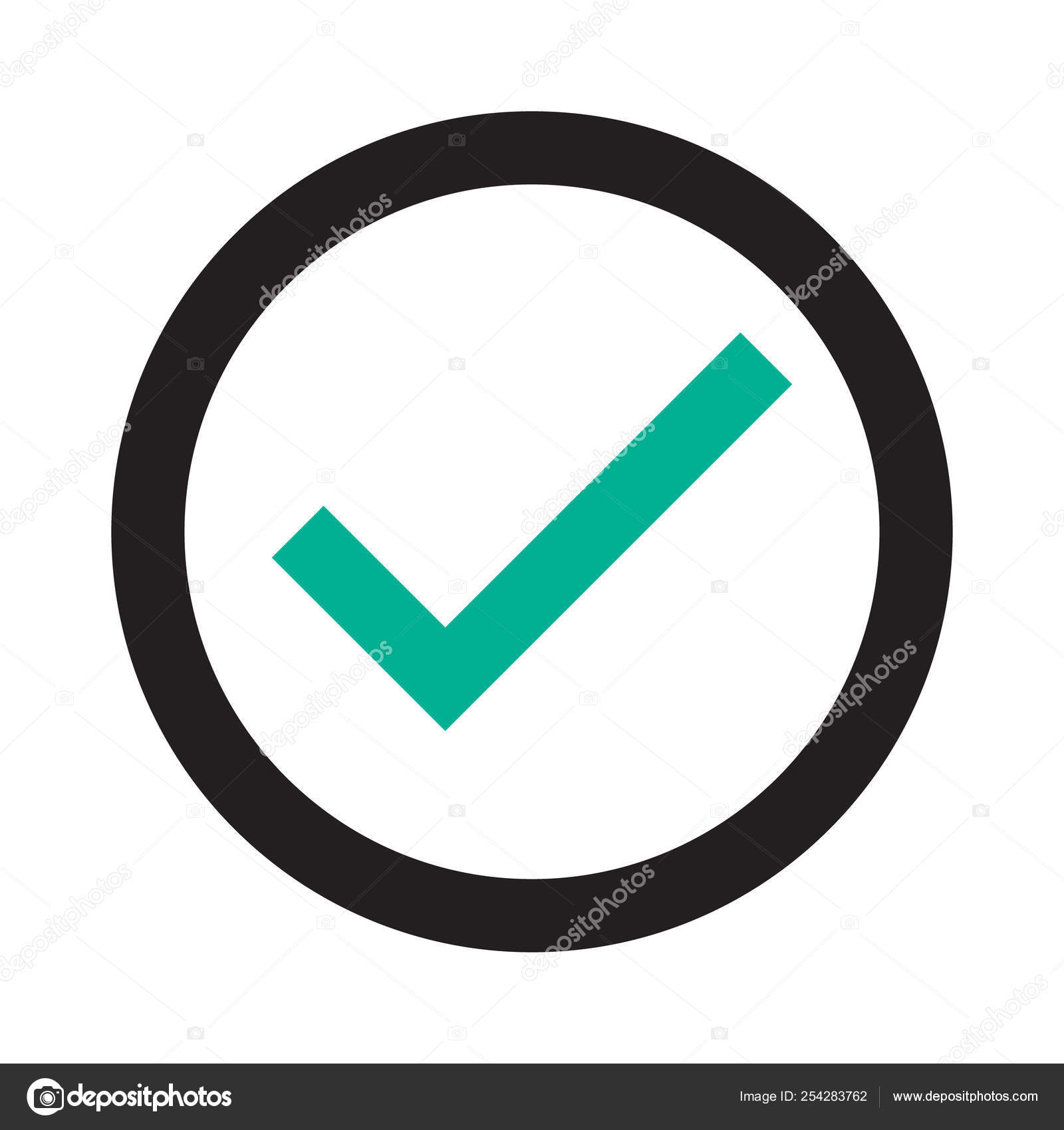 Check mark icon  Check mark logo vector or icon  Tick symbol in