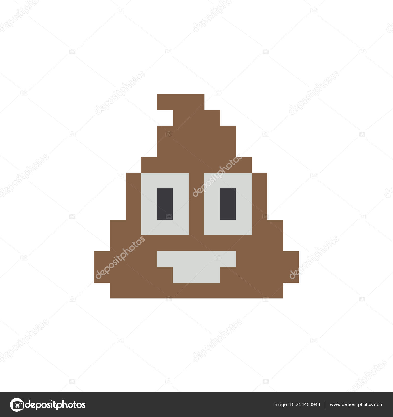 Poop Pixel Vector Icon Eps10 Poop Face Emoji Icon Stock
