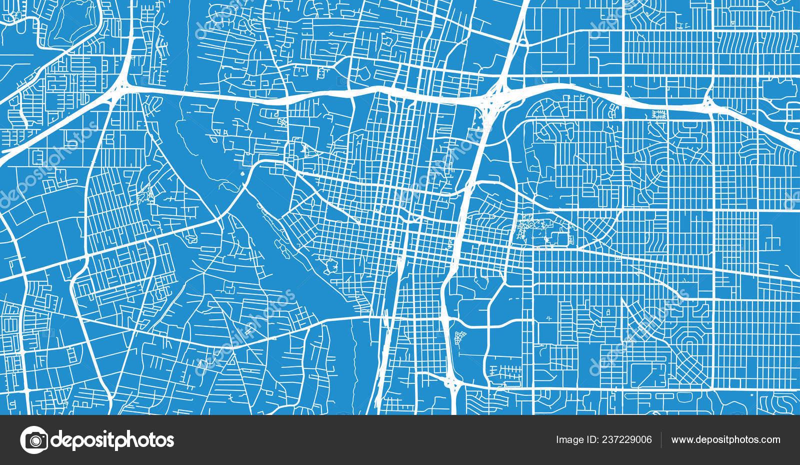Urban Vector City Map Albuquerque New Mexico United States America ...