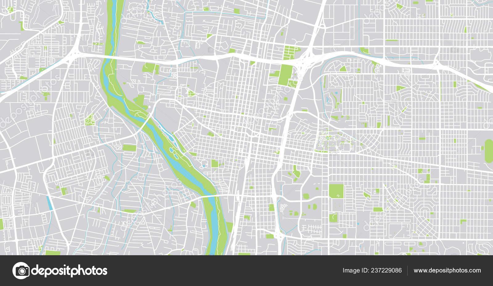 Cartina America Stati Uniti.Vettore Nuovo Messico Cartina Mappa Vettore Urbano Della