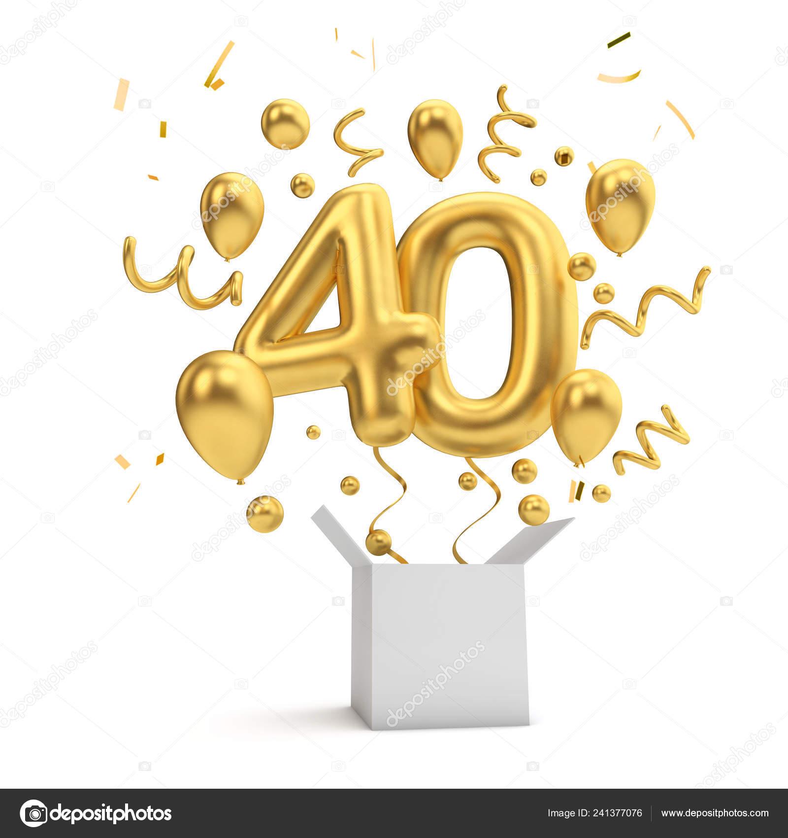 Wonderlijk 40 verjaardag Stockfoto's, Rechtenvrije 40 verjaardag afbeeldingen PV-91
