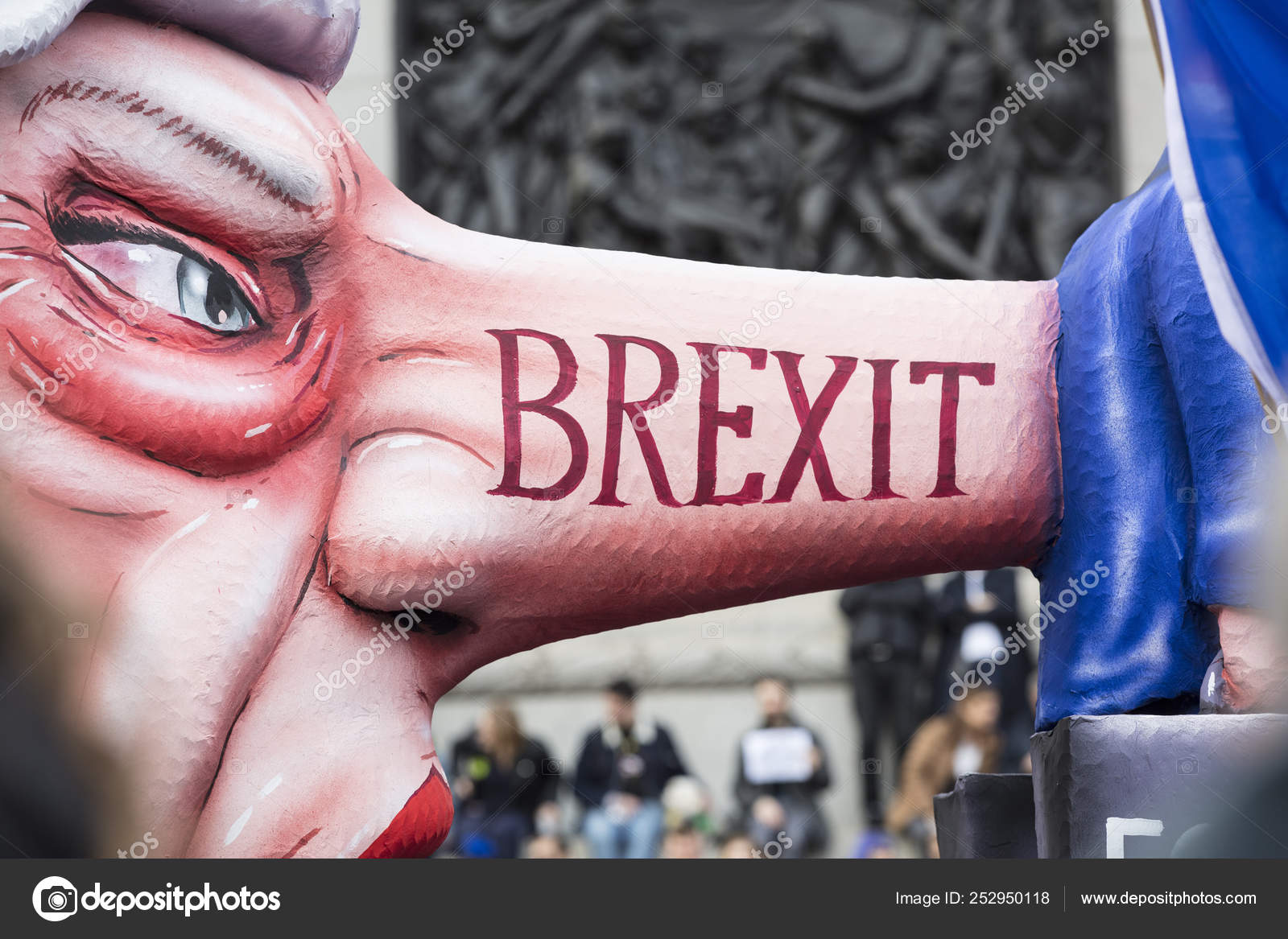 London Uk March 23rd 2019 A Political Satire Sculpture Of