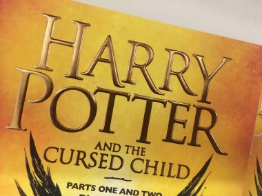 A close up of the front cover of Harry Potter and the cursed chi