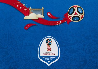 LONDON, UK - CIRCA MAY 2018: Official logo for the World Cup 201