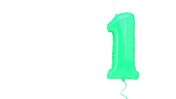Első számú hélium születésnapi party ünneplés lufi háttér. 3d Kiolvasztás