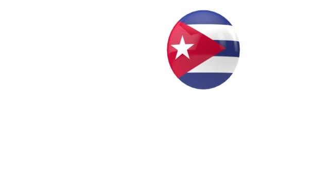 Cuba flag bouncing ball on a white background. 3D Render
