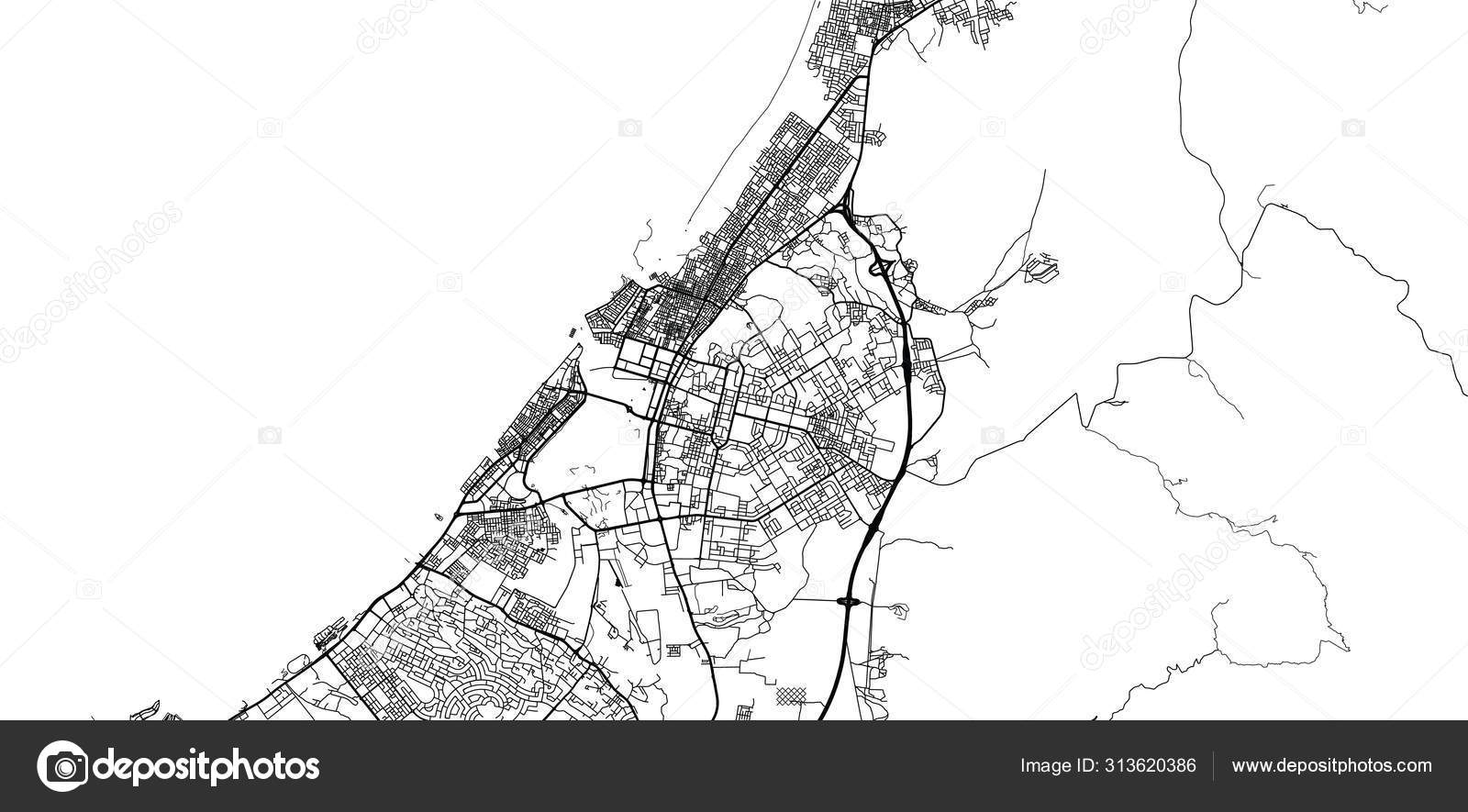 Urban Vector City Map Of Ras Al Khaimah United Arab Emirates
