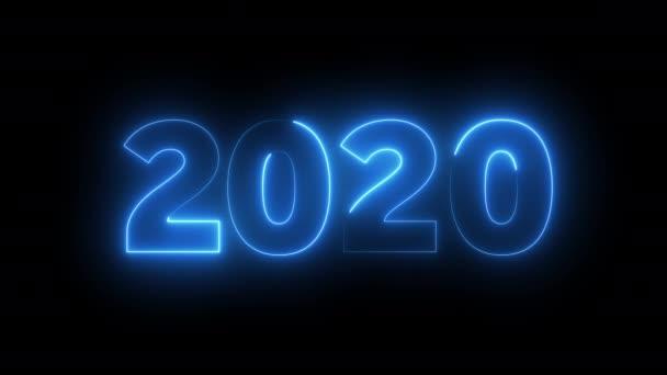 2020 Nový rok oslavy neonové pozadí