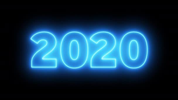 2020 újév ünneplés neon háttér