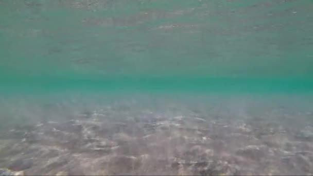 Meeresboden Sand Wellen Wasser Ozean Meer klares Wasser
