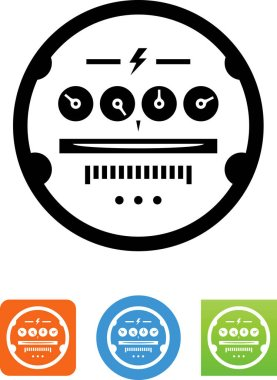 Utility meter vector icon
