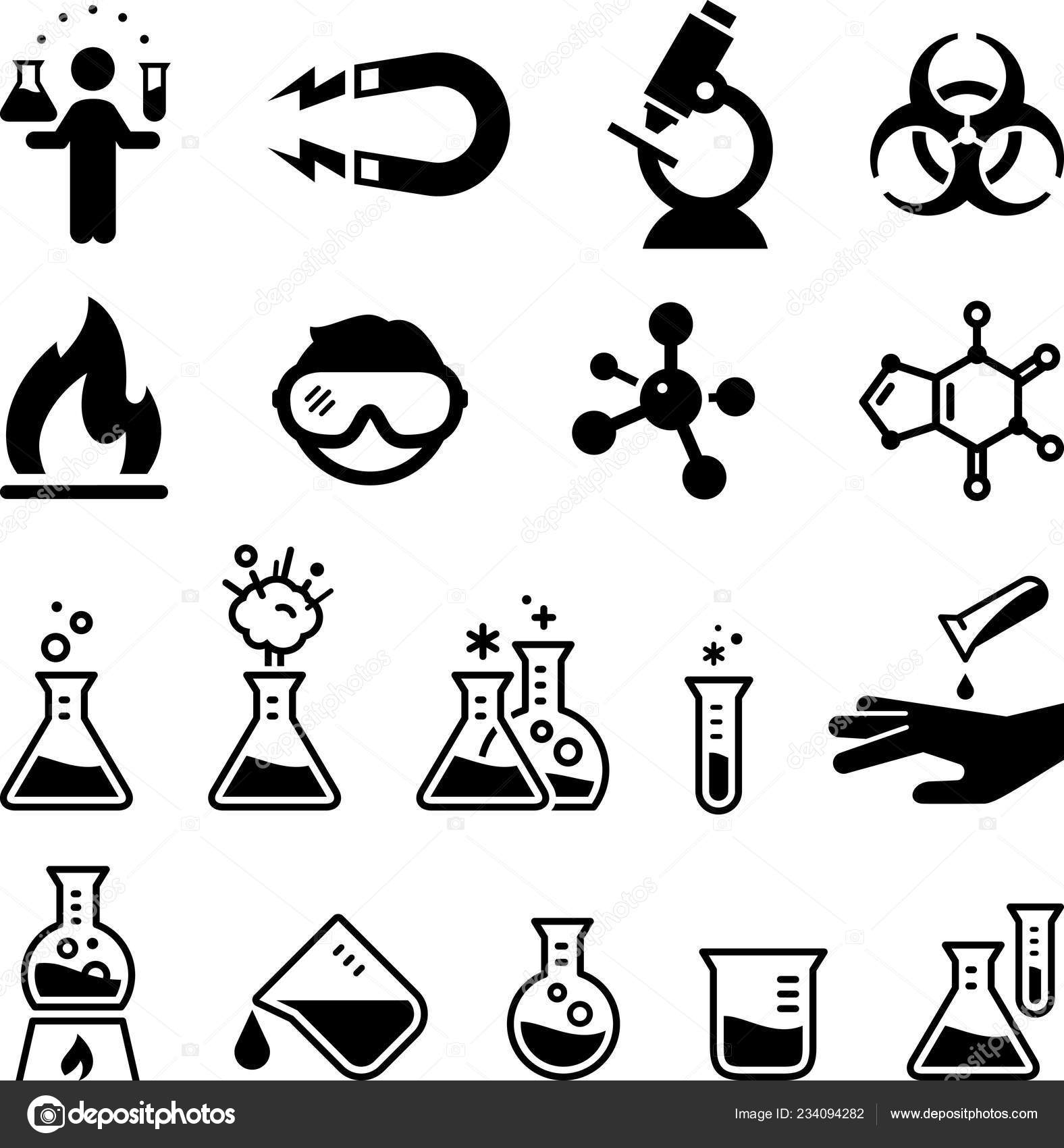 Clipart Forensic Science Science Laboratory Chemist Vector Icons Stock Vector C Popicon 234094282