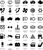 Fotografie Auto Auto Armaturenbrett Vektor-Symbole