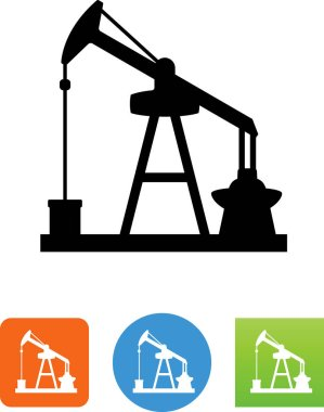Oil well vector icon