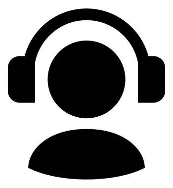 Man With Headphones Vector Icon