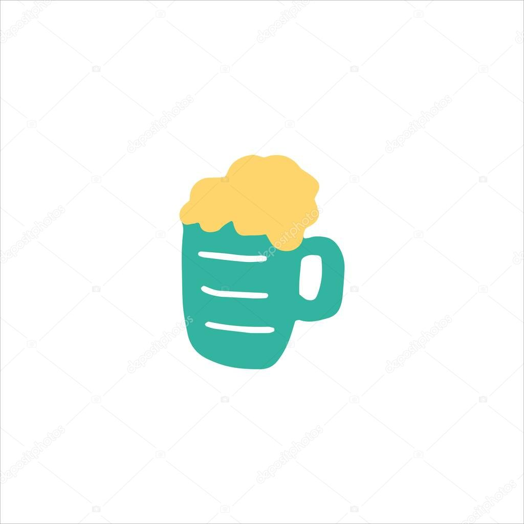 Lager Beer Icon Vector Beer Glass With Beer Doodle Hand Drawn Icon Premium Vector In Adobe Illustrator Ai Ai Format Encapsulated Postscript Eps Eps Format