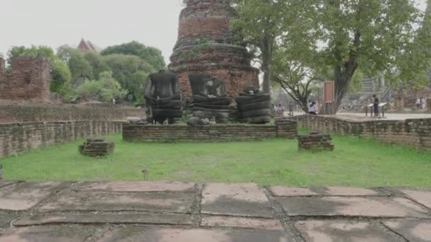 AYUTTAYA, THAILAND-2018, 25 July : Pagoda in Wat Phra Sri Sanphet, Sacred sanctuary in Ayuttaya, Thailand. UNESCO heritage.
