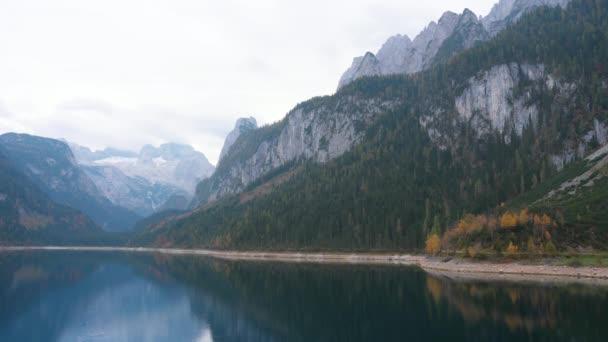 Stunning view of lake Vorderer Gosausee. Gorgeous morning scene. Location place Salzkammergut, Gosau Valley in Upper Austria. Dachstein glacier