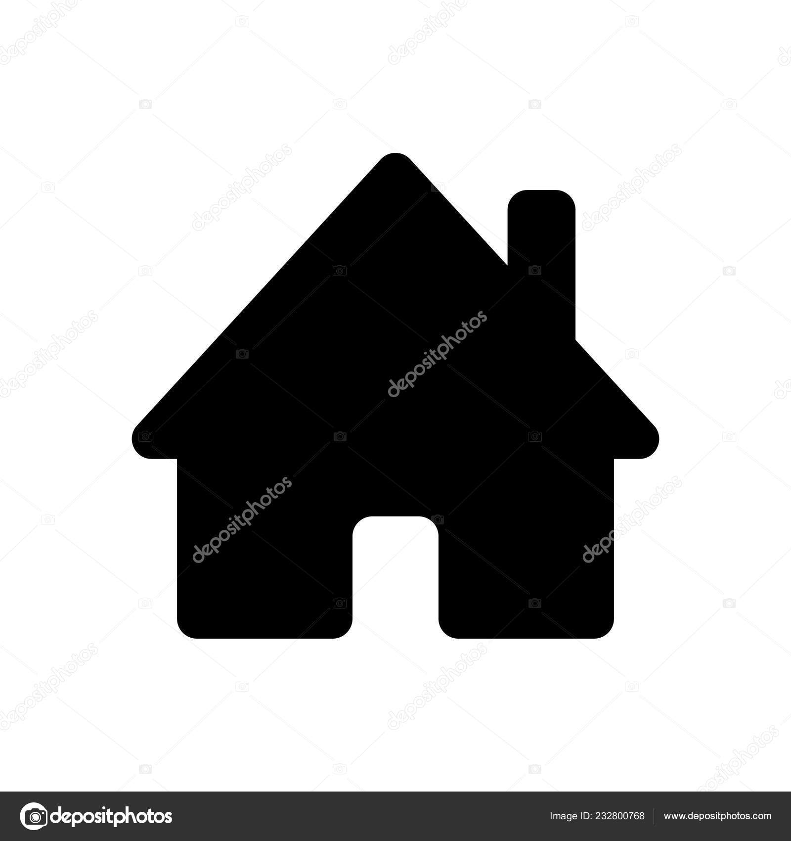 2f41bed54f1d House Icon Black Icon White Background — Stock Vector © fokas.pokas ...