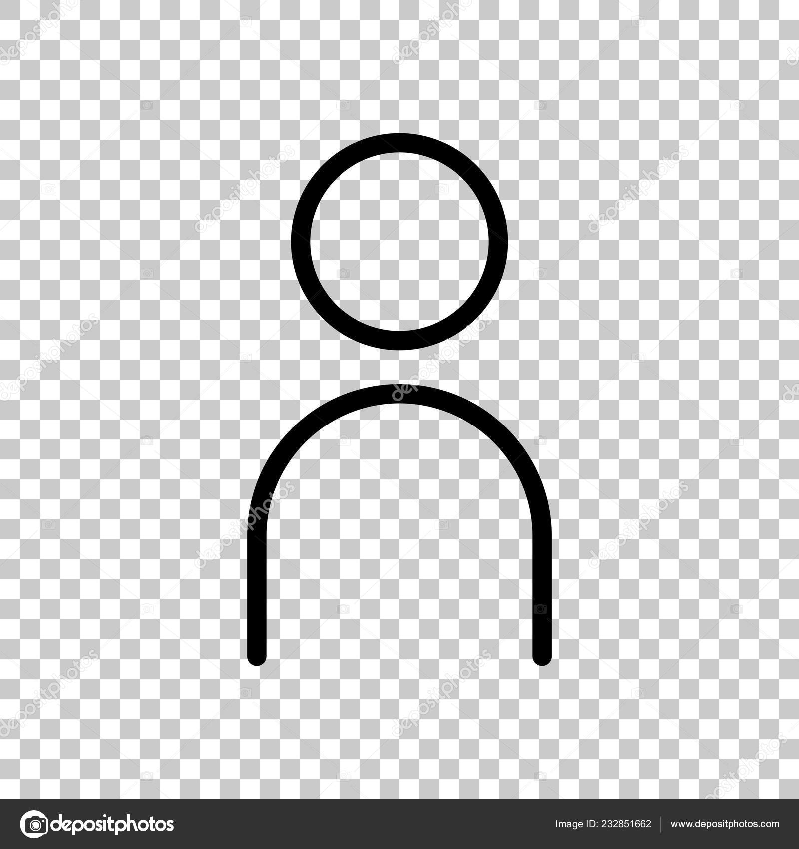 Background Simple Human Outline Simple Person Icon Linear Symbol Thin Outline Transparent Background Stock Vector C Fokas Pokas 232851662 Icons can have and usually have transparent regions. depositphotos