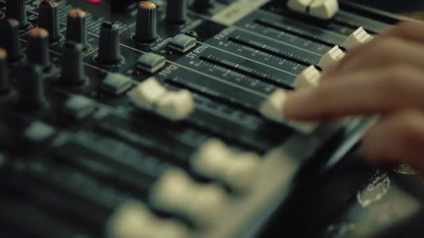 DJ works on the DJ keyboard