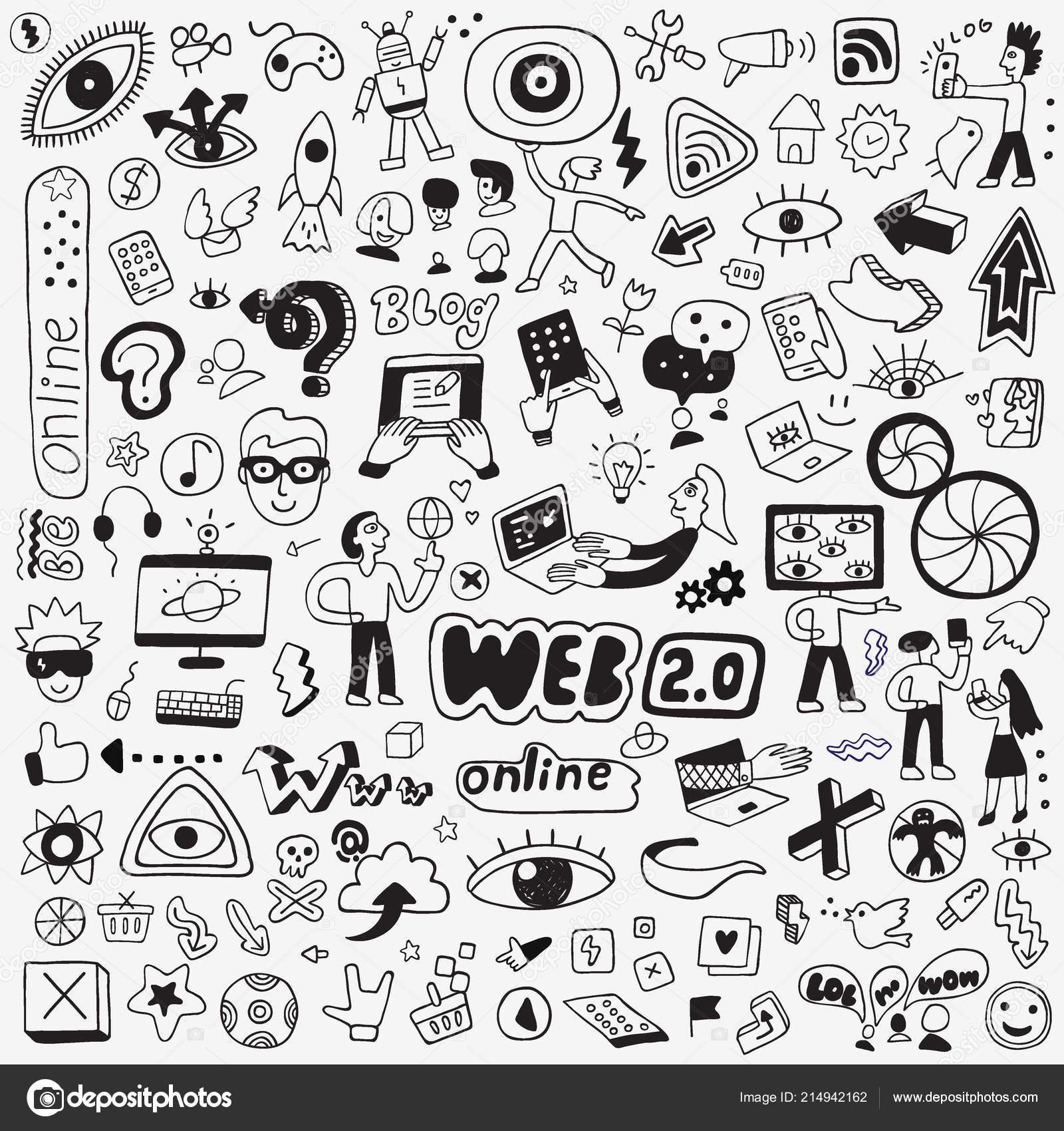 Tecnologia Internet Scarabocchio Disegni A Matita Cartoni Animati