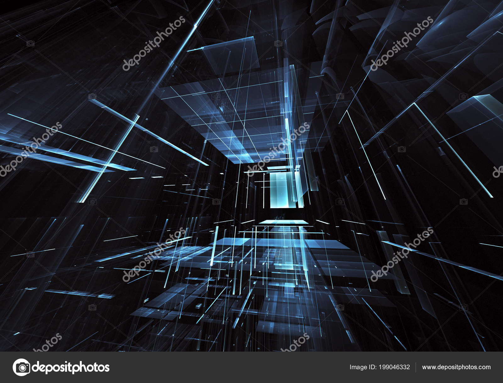 Abstract Future Technology Background Computer Generated Image