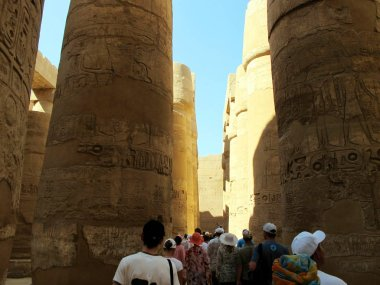 Central Colonnade of the Temple of Karnak in Luxor.
