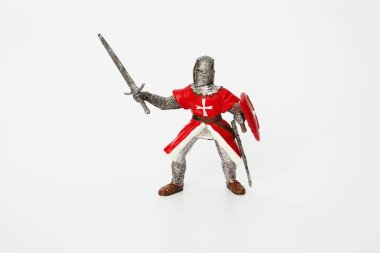 Maltese Knight on a white background. Toy for children.