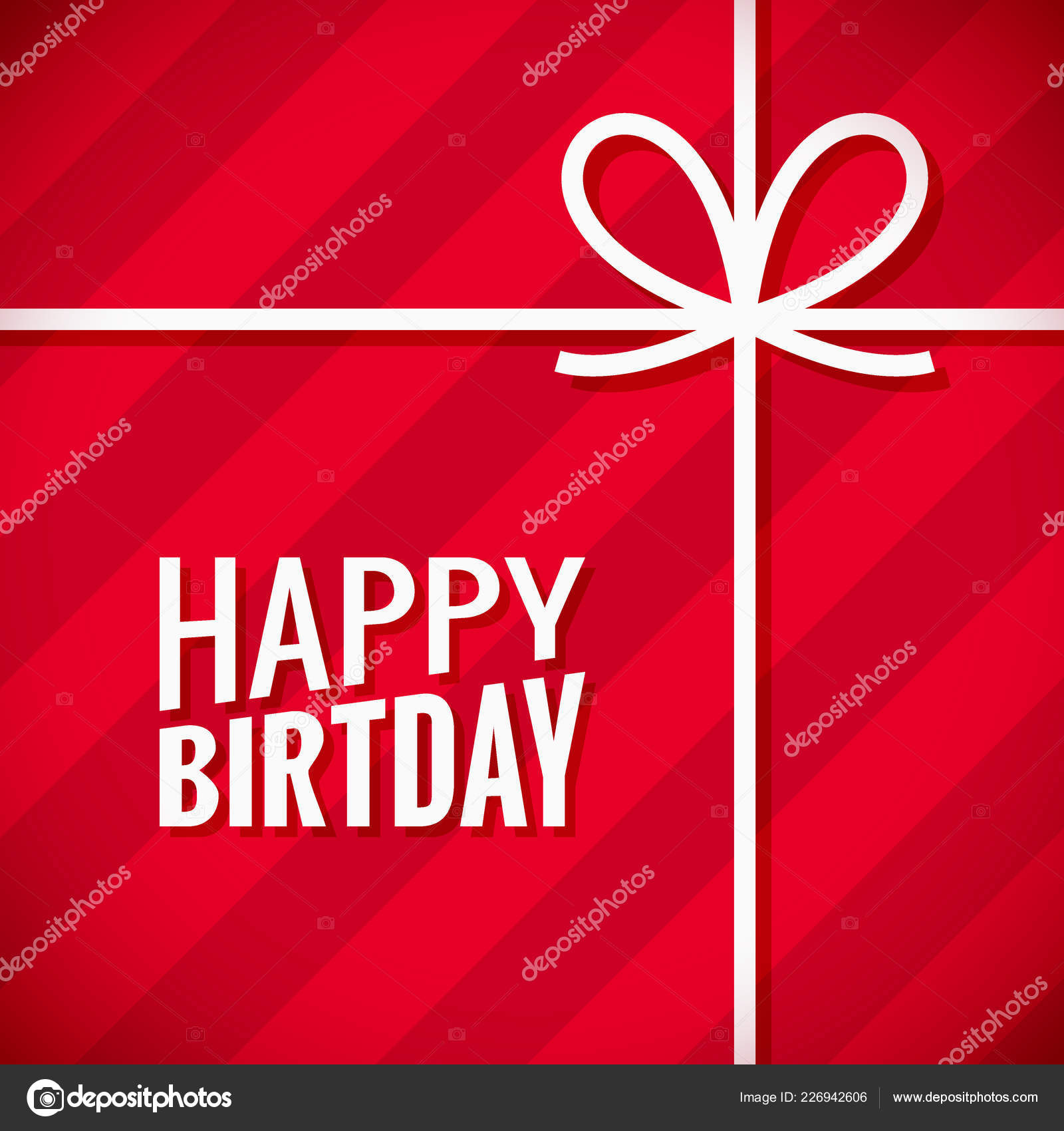 Happy Birthday Card Birthday Gift Box Background Stock Vector