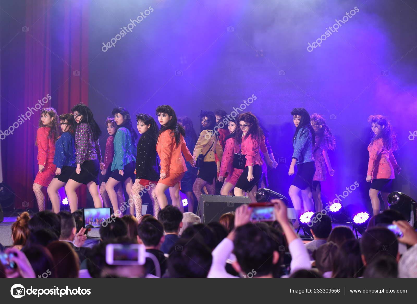 Members Taiwanese Idol Girl Group Akb48 Team Perform Concert Taipei