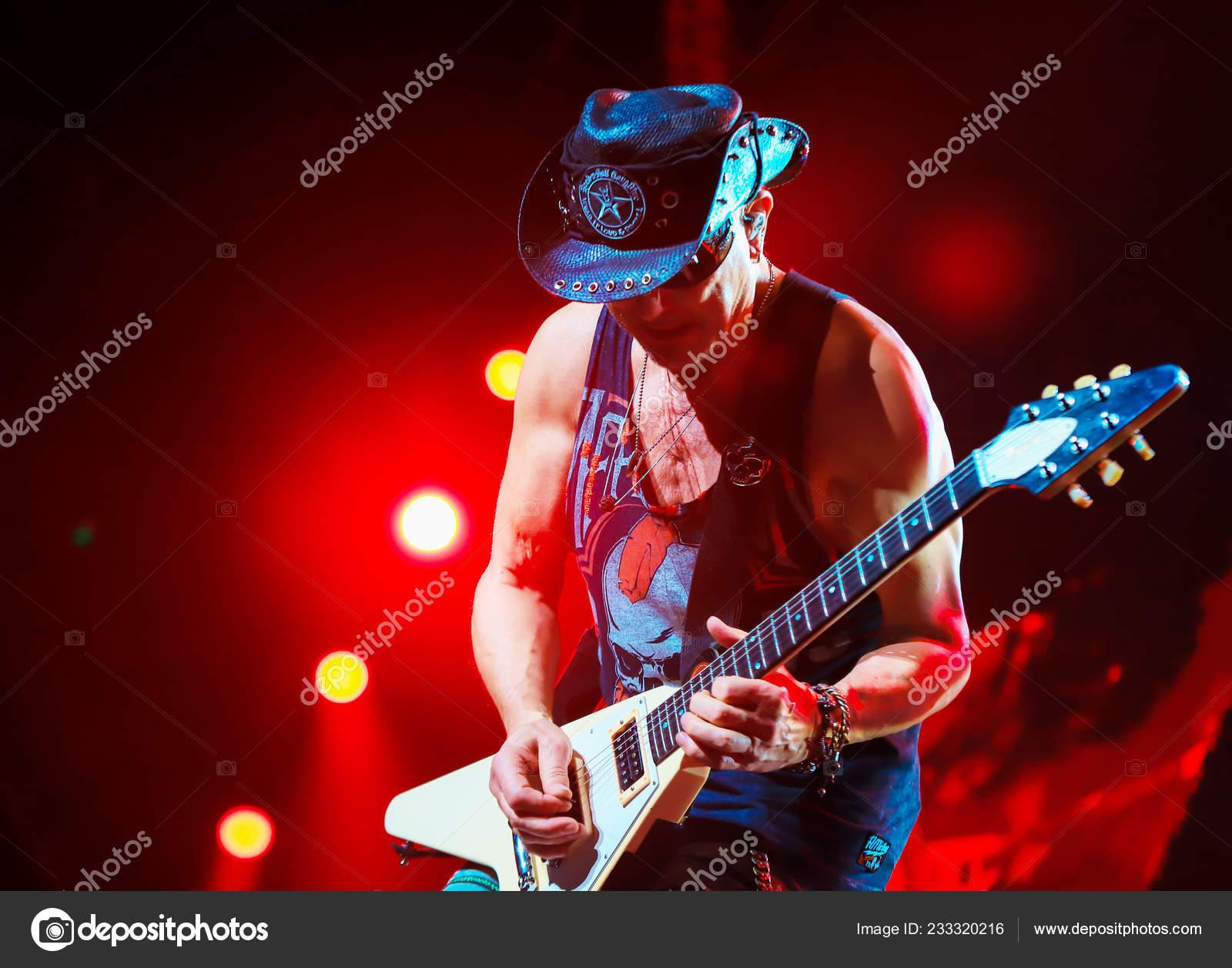 Members German Rock Band Scorpions Perform Crazy World Tour