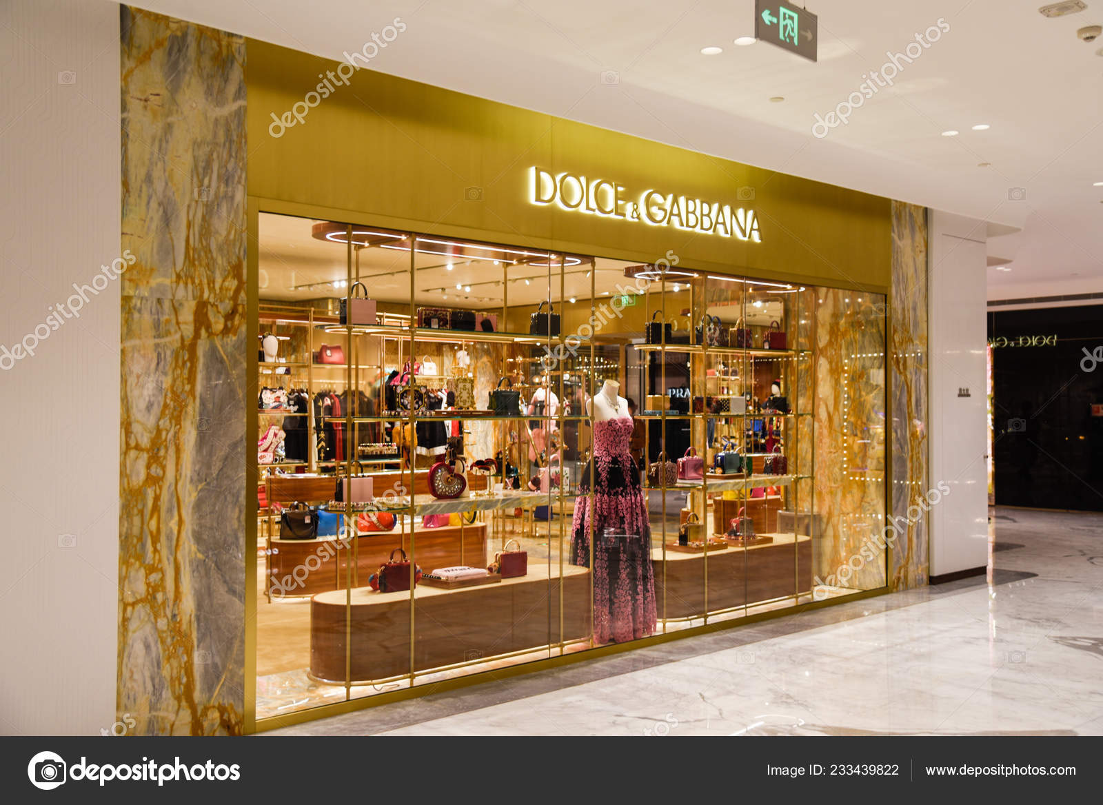 ce040973886f View Boutique Store Dolce Gabbana Shopping Mall Beijing China November —  Stock Photo